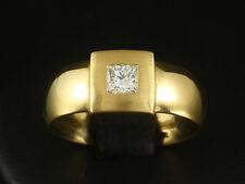 Moderner Diamant Ring TW/VVSI 0,34ct  13,5g 900/- Gelbgold