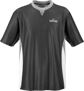 Spalding Basketball Schiedsrichter Shirt Pro Herren Trikot schwarz grau