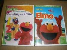 lot of 2 Sesame Street Elmo DVDs Big Elmo Fun, Counting with Elmo