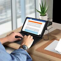 Housse Tablette 10 pouces avec Clavier AZERTY USB-C Fonction Support Noir