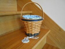 Longaberger Daisy Basket Super Set May Series navy 1999 prot set *free shipping*