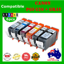 6 Ink Cartridge for PGI520 CLI521 Gray Canon MP540 MP550 MP560 MP620 MX870 MP980