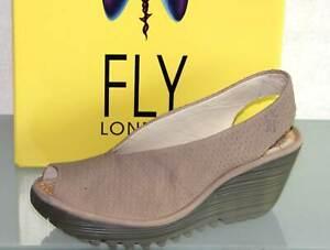 FLY LONDON Leder Sandalette Sandale Pumps - Made in Portugal -YAZU- Neu ! Gr. 36