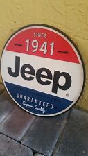 JEEP SINCE 1941 METAL SIGN VINTAGE STYLE RAISED LETTERS 12 BY 12 INCHES MAN CAVE