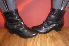 *A6*  CARAVELLE BLACK LEATHER SLOUCH ANKLE BOOTS  UK 3 EU 35.5