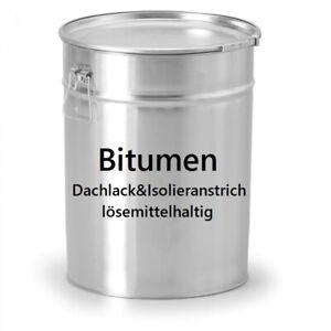 Bitumen Dachlack LH Isolieranstrich Schwarzanstrich Schutzanstrich Bitumenlack
