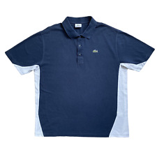 Vintage LACOSTE Sport Polo Shirt | Size 6 (XL) | Navy Blue & White Short Sleeve