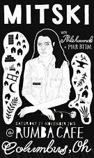 Mitski/Palehound/Pwr Bttm 2015 Columbus, Oh Concert Tour Poster-Indie Rock Music