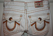 Girls True Religion $215 White Jeans Pants Size 12
