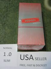 1 box MOON RED SLIM 1.0 Cigarette Rolling Papers 50 leaves/pack 70X36mm USA