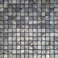 River Bed Natural Shell Mosaic Tiles - Mother of Pearl Square Ice