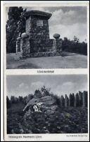 1942 alte AK von Walsrode -> Burgstädt Sachsen Mehrbild-AK Hermann Löns Denkmal