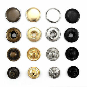 Solid Brass Press fasteners 15 mm S spring stud Canvas Sportswear Outdoor AMB