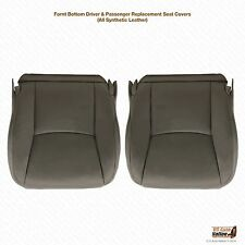 2006 2007 2008 Lexus GX470 Driver & Passenger Bottom Vinyl Seat Covers Dark Gray