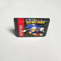 Soniced 3D Blast (1996) 16 Bit Only Game Card Sega Genesis Mega Drive System