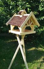 Großes Vogelhaus, Vogelhäuser natur wahlweise mit Ständer und Solar Typ 40