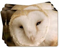 White Barn Owl Picture Placemats in Gift Box, AB-O20P