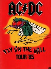 AC/DC 1985 FLY ON THE WALL U.S. TOUR CONCERT PROGRAM BOOK / EX 2 NMT