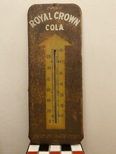 """Vintage RC Drink Royal Crown Soda 25 1/2"""" Working Thermometer"""