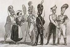 Troupe Allemande Bavarois Sajones Vurtembergos XIXe Allemagne Germany