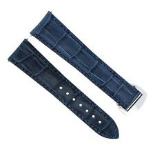 20MM LEATHER STRAP WATCH BAND 41MM OMEGA SEAMASTER 300 or PLANET OCEAN BLUE