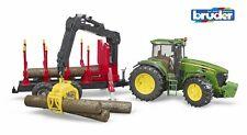 John Deere 7930 remolque de tractor forestal 4 registros-Bruder 03054 escala 1:16 Nuevo