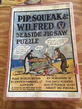 Vintage Simpkin Marshall Wooden Jigsaw Puzzle Pip Squeak Wilford Seaside 150pc