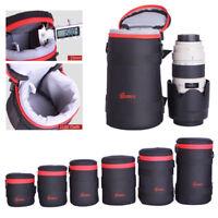 DSLR SLR Camera Shoulder Bag 70-200mm Lens Cover Protector Pouch Padded Insert