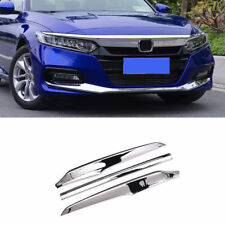 For Honda Accord 2018 2019 2020 Chrome Front Bumper Lip Protector Cover Trim 3pc (Fits: Honda)