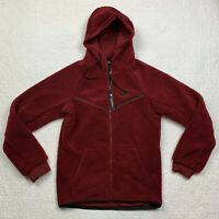 Nike Men's Tech Fleece Sherpa Windrunner Full Zip Hoodie Red Size S AQ2767-677