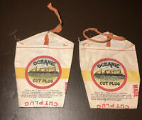 (2) Vtg Original OCEANIC Virginia Cut Plug Tobacco Pouches