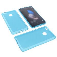 Funda para Huawei P9 Lite funda protectora de móvil TPU goma Carcasa Azul