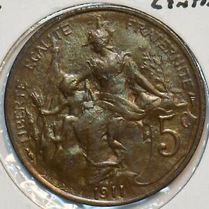 France 1911 A 5 Centimes 296893 combine shipping