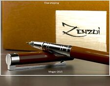 Fountain Pen [Chocolate Espresso Brown] With Ink Refill Converter And Gift Box