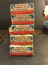 VINTAGE PRESIDENTS OF THE UNITED STATES SERIES 1-5 BY MARX IN ORIGINAL BOXES