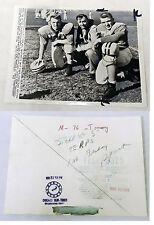 1956 Press Photo ~ TOMMY MONT, JACK DAVIS, MIKE SANDUSKY ~ Maryland Football
