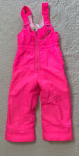 Obermeyer Kids Snow Ski Suit Neon Pink Lined Girls Size 4
