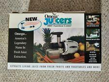 Omega 8005 Low Speed Nutrition Center Fruit Vegetable Juicer Food Processor New
