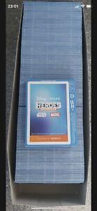2021 Sainsburys Heroes Cards full Box 225 Packs Disney Marvel Free Postage