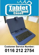 """Blue Mini USB Keyboard Case/Stand for 9"""" Android Tablet PC"""