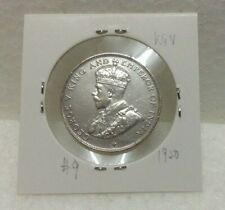 STRAITS SETTLEMENTS  KGV 50 cents Coin Silver .500 fine 1920 High Grade  #9