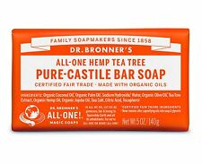 Dr Bronner`s Magic Pure Castile Soaps Made With Organic Oil - 2x140g Bars Tea Tree Rose