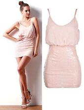 Sequin Strappy, Spaghetti Strap Regular Dresses for Women