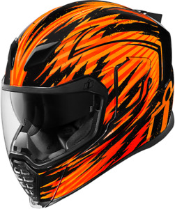 Icon X-Small Airflite Fayder Orange Full Face Motorcycle Helmet