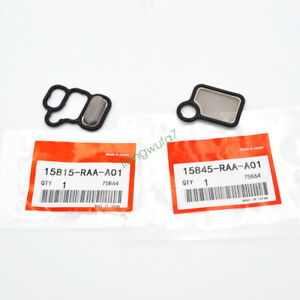 OEM VTEC Solenoid Gasket Spool Valve Filter Screen 2pcs For Honda Civic CR-V