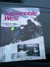 Nov 1987 snowmobile West Magazine  Ski Doo Arctic Cat Polaris Yamaha Exciter