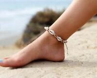 Cowrie Shell Anklet Bracelet Puka Seashell Beaded Jewelry Surfer Beach new