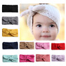Baby Girl Knit Bow Hairband 100%Cotton Comfy Beanie Newborn Gift Winter 0-18M