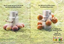Publicité Advertising 1995 (2 pages) Dessert yaourt  Peche  Yoplait fruits