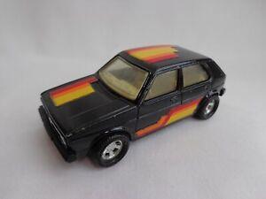 Vintage Matchbox Lesney Superkings K-86 VW Golf Black / RARE CREAM Interior VGC!